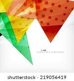 modern 3d glossy overlapping... | Shutterstock . vector #219056419