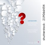 3d question marks background....   Shutterstock .eps vector #219066454