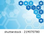 medical background and icons to ... | Shutterstock .eps vector #219070780
