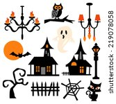 haunted house theme vector clip ...