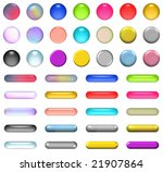aqua buttons in different colors | Shutterstock . vector #21907864