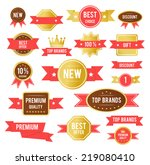 sale tags. old retro vintage... | Shutterstock . vector #219080410