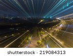 defocus view of city night. | Shutterstock . vector #219084313