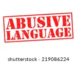 Постер, плакат: ABUSIVE LANGUAGE red Rubber
