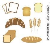 set of white bread  bakery... | Shutterstock . vector #219088024