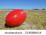australian rules football   Shutterstock . vector #219088414
