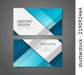 abstract creative business card ... | Shutterstock .eps vector #219092464