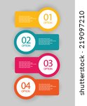 infographics option number... | Shutterstock .eps vector #219097210