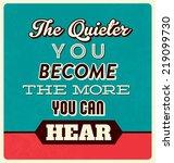 retro typographic poster design ... | Shutterstock .eps vector #219099730