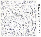 hand drawn vector illustration  ... | Shutterstock .eps vector #219107254