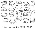 chef toques and hats set... | Shutterstock .eps vector #219116239
