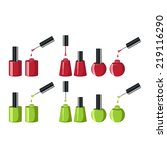 nail polish. isolated vector set | Shutterstock .eps vector #219116290