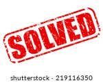 solved red stamp text on white | Shutterstock .eps vector #219116350