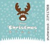 christmas illustration with... | Shutterstock .eps vector #219117808