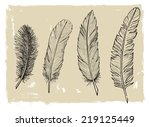 vector wine set on vintage... | Shutterstock .eps vector #219125449