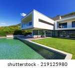 luxury villa with infinity pool | Shutterstock . vector #219125980