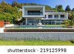 luxury villa with infinity pool   Shutterstock . vector #219125998