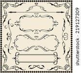 ornate art set is on white   Shutterstock . vector #219127309