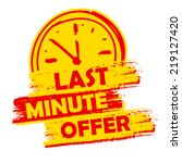 last minute offer with clock... | Shutterstock .eps vector #219127420