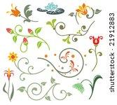 floral ornamental design...   Shutterstock .eps vector #21912883