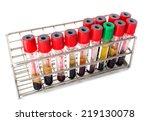 blood tube for testing in... | Shutterstock . vector #219130078