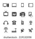 communication device icons | Shutterstock .eps vector #219132058