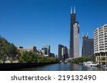 Various Chicago skyscrapers including the Willis Tower (formerly Sears Tower). - stock photo