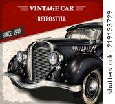 vintage car | Shutterstock .eps vector #219133729