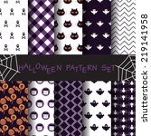 10 different halloween vector... | Shutterstock .eps vector #219141958