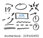 set of correction and highlight ... | Shutterstock .eps vector #219142453
