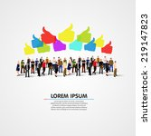 large group of people with like ... | Shutterstock .eps vector #219147823