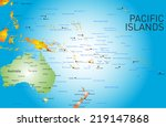 vector color map of pacific... | Shutterstock .eps vector #219147868