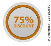 discount 75 circular icon on... | Shutterstock . vector #219153550