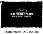 design template.abstract grunge ... | Shutterstock .eps vector #219155308