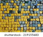 Colorful Old Stone Mosaic On...