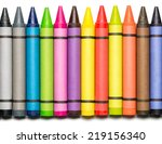 Multi Colored Wax Crayons On...