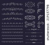 set vintage decorative elements ... | Shutterstock .eps vector #219157798