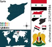 vector map of syria with... | Shutterstock .eps vector #219159586