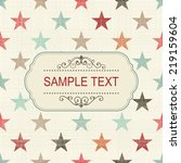 vintage card with colorful... | Shutterstock .eps vector #219159604