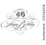 happy birthday calligraphy  | Shutterstock .eps vector #219162418