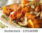 homemade cooked sweet potato... | Shutterstock . vector #219166588