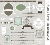 vector illustration of a set of ... | Shutterstock .eps vector #219174043