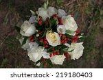 holiday wedding bouquet | Shutterstock . vector #219180403