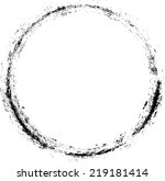 grunge circle. rubber stamp.... | Shutterstock .eps vector #219181414