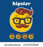 smiley hipster set | Shutterstock .eps vector #219192904