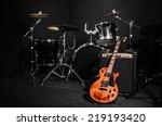 set of musical instruments... | Shutterstock . vector #219193420