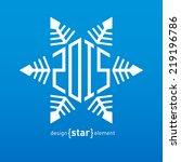 the original vector christmas... | Shutterstock .eps vector #219196786