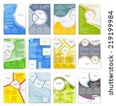 set of flyer  brochure or... | Shutterstock .eps vector #219199984