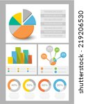 info graphic element set | Shutterstock .eps vector #219206530