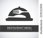 menu graphic design   vector... | Shutterstock .eps vector #219212353